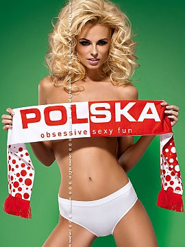Szalik Model Fun Scarf Polska White-Red - Obsess Obsessive
