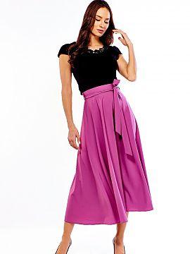 c24c72bdb322b1 Lange rok Ella Dora Rozkloszowana długa spódnica w stylu lat 50-tych.  Spódnica posiada