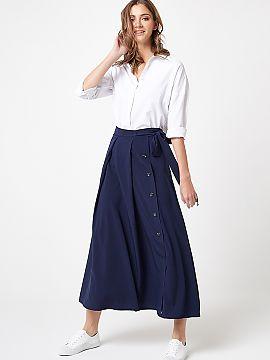 4cbee471d7ff96 Lange rok Lumide Długa elegancka spódnica to niezbędnik w szafie każdej  kobiety. Wykonana z miękkiej